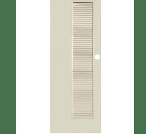 BATHIC ประตูพีวีซี ขนาด 90x200ซม.  BC5 สีครีม (เจาะรูลูกบิด)