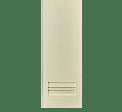BATHIC ประตูพีวีซี ขนาด 60x180ซม. (ไม่เจาะรูลูกบิด) BC2 ครีม