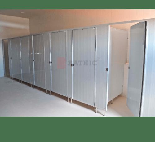 BATHIC ผนังห้องน้ำพีวีซี แผงพาร์ทิชั่น 160x185ซม. PT ขาว