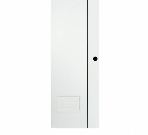 BATHIC ประตูยูพีวีซี ขนาด 70x180ซม. (เจาะรูลูกบิด) BG2 ขาว