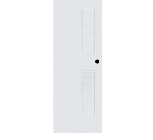 BATHIC ประตูพีวีซี ขนาด 80x200 ซม. BC6 (เจาะรูลูกบิด) สีขาว