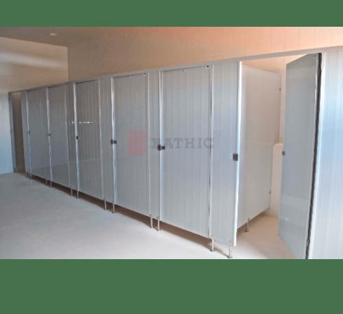 BATHIC  ผนังห้องน้ำพีวีซี แผงพาร์ทิชั่น 70x150ซม.  PT สีเทา