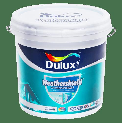 Dulux ดูลักซ์เวเธ่อร์ชีลด์ไฮโดรเฟรช เบสB Weathershield Hydrofresh ขาว