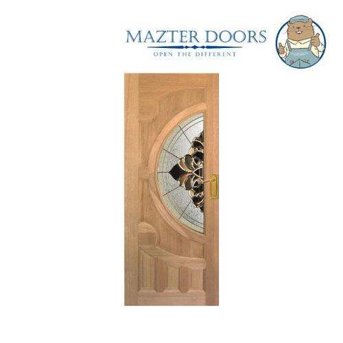 MAZTERDOOR ประตูไม้เรดเมอร์รันตี   ขนาด 80x200 cm. VANDA-05