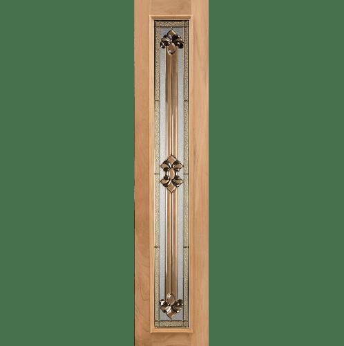 MAZTERDOOR ประตูกระจกไม้จาปาร์การ์ 40x280 cm. Jasmine-04