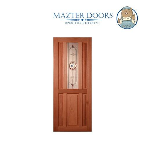 MAZTERDOOR ประตูกระจกสยาแดง ขนาด 80x200 cm. SS-01