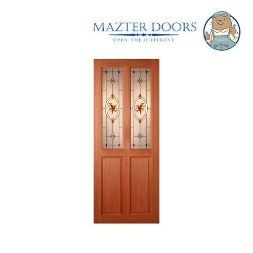 MAZTERDOOR ประตูไม้สยาแดง  ขนาด 80*200 cm SS-02/2