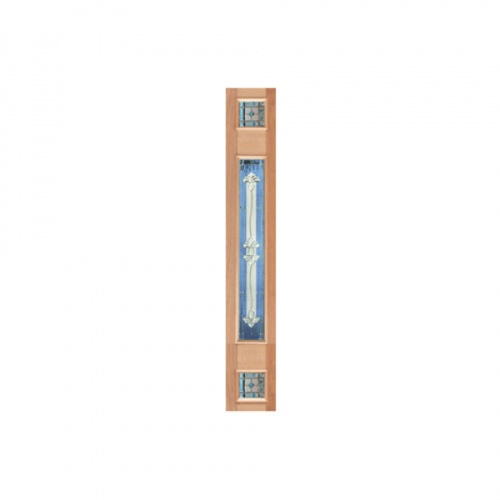 MAZTERDOOR ประตูกระจกไม้สยาแดง 40x245 cm. Jasmine-09(upper-side)