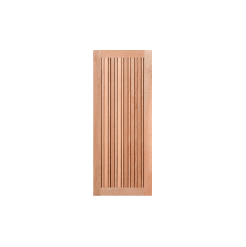 MAZTERDOOR ประตูไม้เนื้อแข็ง บานทึบเซาะร่อง ขนาด  80x180ซม. NM-09