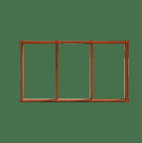 MAZTERDOOR วงกบบานหน้าต่าง3ช่อง  ขนาด 60x100ซม.