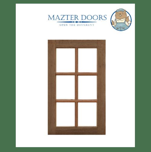 MAZTERDOOR บานหน้าต่างไม้สยาแดง ขนาด 50X100ซม.      WD-03