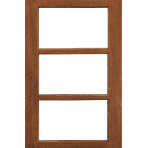 MAZTERDOOR  หน้าต่างไม้สยาแดง ขนาด 55x100ซม. WD-05(3ช่องไม่ใส่กระจก)