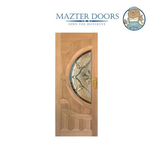MAZTERDOOR ประตูไม้เรดเมอร์รันตี ขนาด 80x200 cm.  Vanda-02