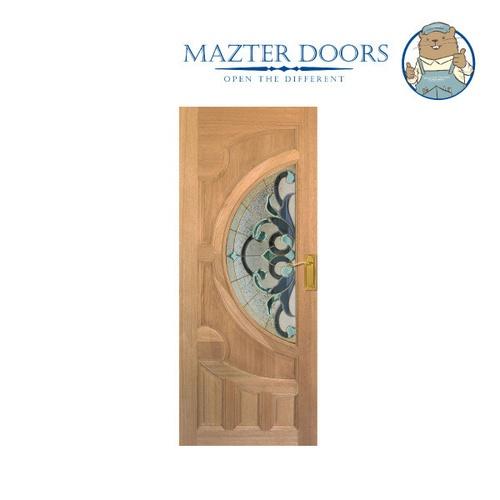 MAZTERDOOR ประตูไม้เรดเมอร์รันตี ขนาด  80 x 200 cm. Vanda-03