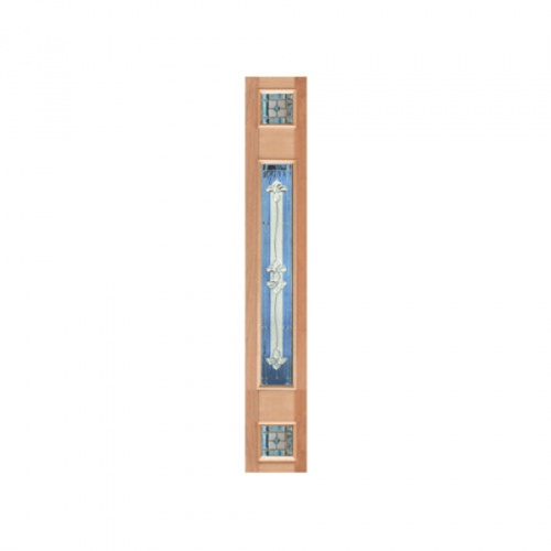 MAZTERDOOR ประตูกระจกจาปาร์การ์  ขนาด 40x245cm. JASMINE-09  upper-side