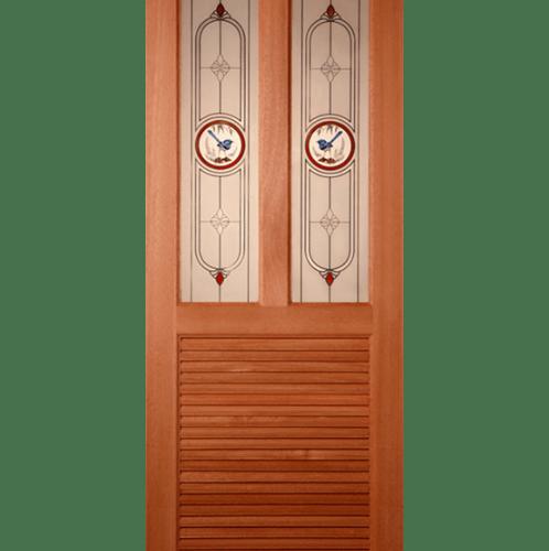 Masterdoors ประตูกระจกไม้สยาแดง ขนาด  70X200 cm.  SS 3/1  ธรรมชาติ