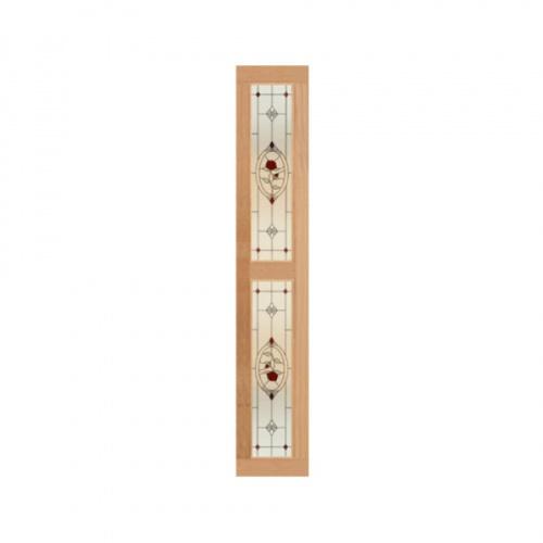 MAZTERDOOR ประตูกระจกไม้สยาแดง  (UPPER-SIDE ) 40x240 cm. SS02/2