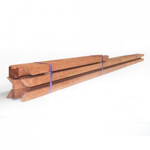 MAZTERDOOR วงกบประตูไม้เนื้อแข็ง(จ๊อย)  ขนาด 80X200 cm.