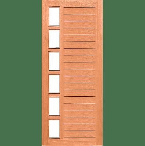 MAZTERDOOR SET C บานสไลด์ไม้สยาแดง ขนาด 90x200 cm. MD60-02