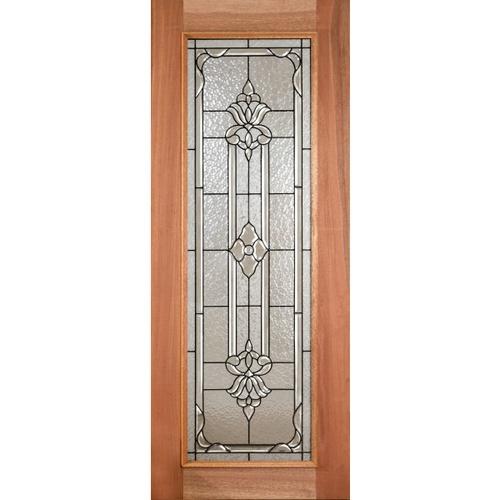 MAZTERDOOR ประตูกระจกไม้สยาแดง LOTUS-11 ขนาด 90x200cm. ประตูกระจกไม้สยาแดง LOTUS-11 ขนาด 90x200cm.