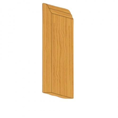 MAZTERDOOR คิ้วตกแต่ง-ไม้สัก (ฟักเพ่) 1.1/2x3/8x6.5 ฟุต M.0312