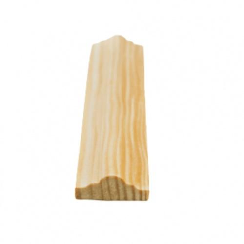 MAZTERDOOR คิ้วตกแต่ง-ไม้สัก (จั่ว) 1/2x1x9.5 ฟุต M.0402