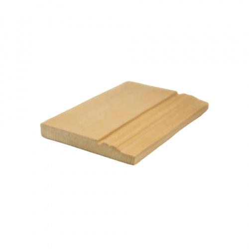 MAZTERDOOR บัวพื้น-ไม้สัก ขนาด 5/8นิ้ว x4นิ้วx6 ฟุต  M.1406(พื้น 2ตุ่ม)