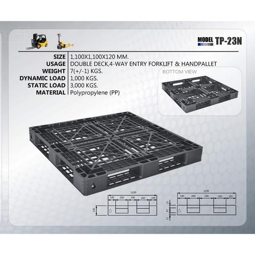 SUPERWARE พาเลทพลาสติก ขนาด 1100x1100x120MM. TP-23N สีดำ