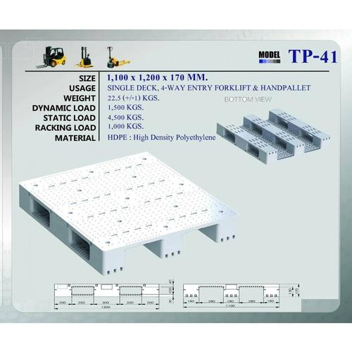 Superware พาเลทพลาสติก TP-41 TP-41 สีดำ