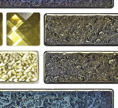 GLASCERA โมเสคแก้วแกตสบี้ MS-ASC-0004 ดำ-ทอง