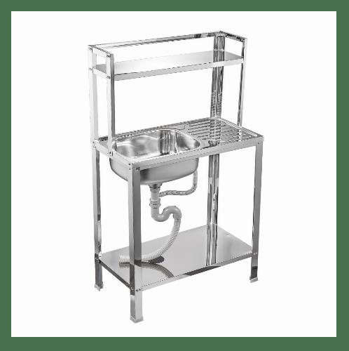TECNO* อ่างล้างจานพร้อมขาตั้งมีชั้นคว่ำจาน  TNS ST 765677 SS