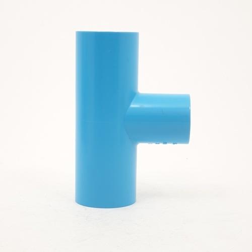 Number One ข้อต่อสามทางลด 1x3/4 (แพ็ค 4) สีฟ้า