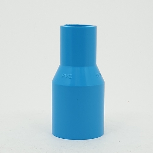 Number One ข้อต่อตรงลด 1นิ้วx1/2นิ้ว  (แพ็ค 5) สีฟ้า