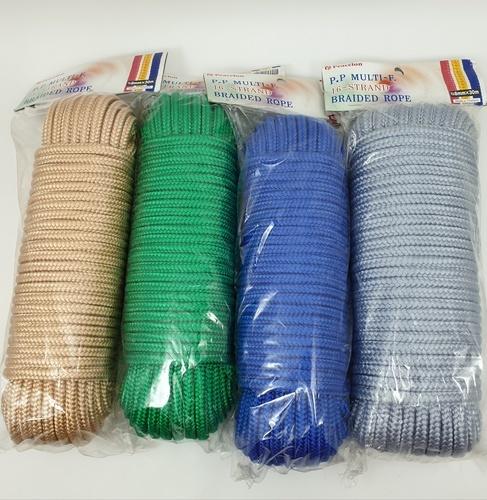 เชือกถัก 8มิล.30เมตร  คละสี