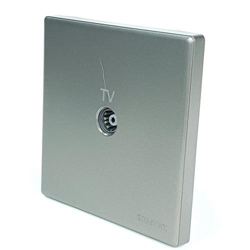 Gentec  เต้ารับโทรทัศน์  86G-10 สีเทา