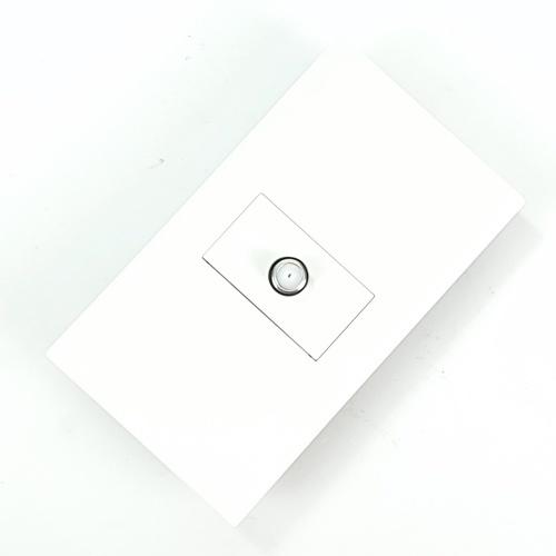 Gentec เต้ารับสายสัญญาณดาวเทียม 120W-20 สีขาว