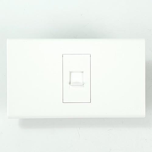 Gentec เต้ารับโทรศัพท์ 120W-18 สีขาว ขาว