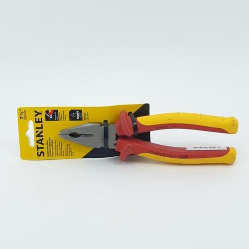 STANLEY คีมปากจิ้งจกหุ้มฉนวนกันไฟ 8นิ้ว 84-002 คีมปากจิ้งจกหุ้มฉนวนกันไฟ 8นิ้ว 84-002