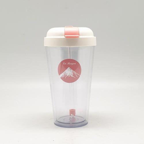La Mayon เเก้วพลาสติกเเฟนซี 420ml   EXB003-PK  สีชมพู