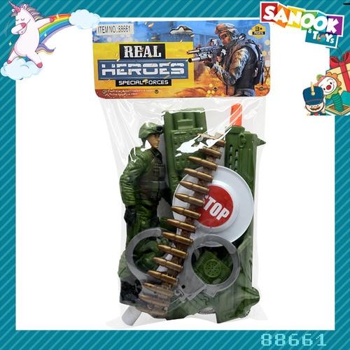 Sanook&Toys ชุดอาวุธทหารจำลอง #88661 (24x32x5 ซม.) คละสี