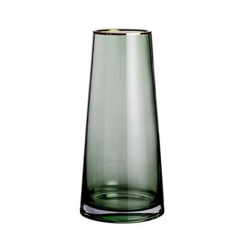 COZY แจกันแก้ว ขนาด 14x28 ซม.  Green-L  สีเขียว