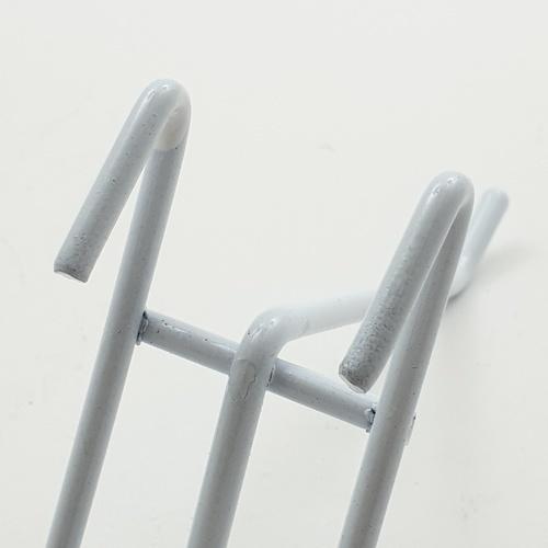 Delicato ตะขอเกี่ยวตะแกรง 4 นิ้ว  H4W  (6ชิ้น/แพ็ค) สีขาว