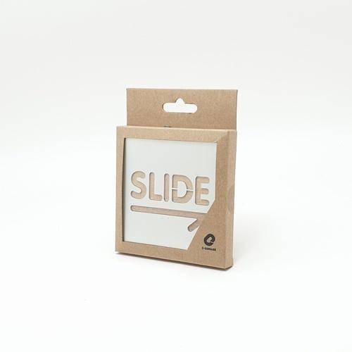 C Signage ป้ายอลูมิเนียม ประกบไม้ (Slide Rightขนาด9x9cm.) CSWSS-004