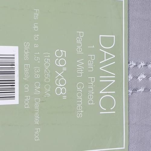 Davinci ผ้าม่านประตู ขนาด 150X250ซม. BC-010-05-DGR สีเทา