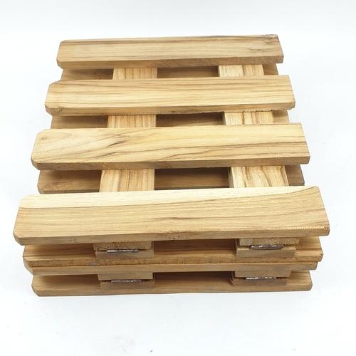 SJK รั้วไม้สักบานพับ 4 พับเล็ก  ขนาด 120ซม.x25ซม.x2ซม.