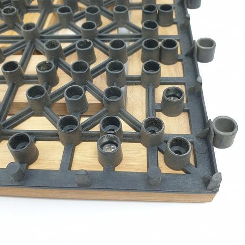 SJK แผ่นไม้สักปูพื้นสำเร็จรูป ขนาด 30x30ซม. ลายจีน