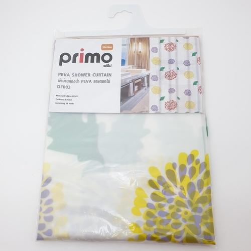 PRIMO ผ้าม่านห้องน้ำ PEVA ลายดอกไม้ 180*180 ซม. DF003