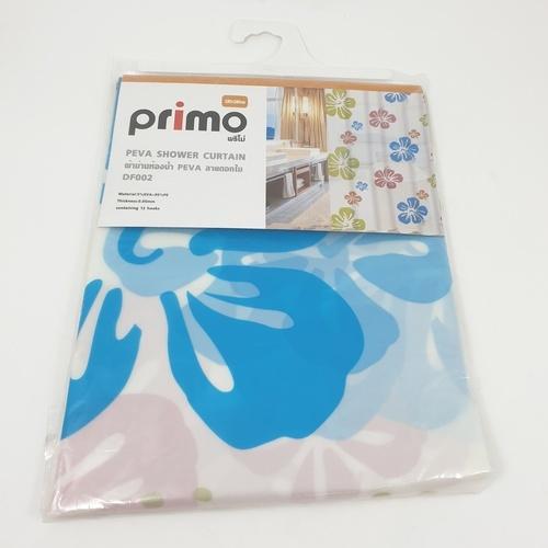 PRIMO ผ้าม่านห้องน้ำ PEVA ลายดอกไม้ 180*180 ซม. DF002