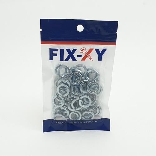 FIX-XY แหวนสปริง M10  (50ชิ้น/แพ็ค)  EM-006 สีโครเมี่ยม