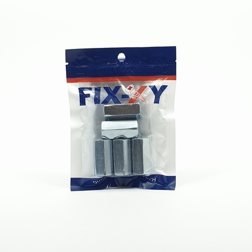 FIX-XY ข้อต่อสตัดเกลียว 1/2 EA-004 (5ชิ้น/แพ็ค)  สีโครเมี่ยม
